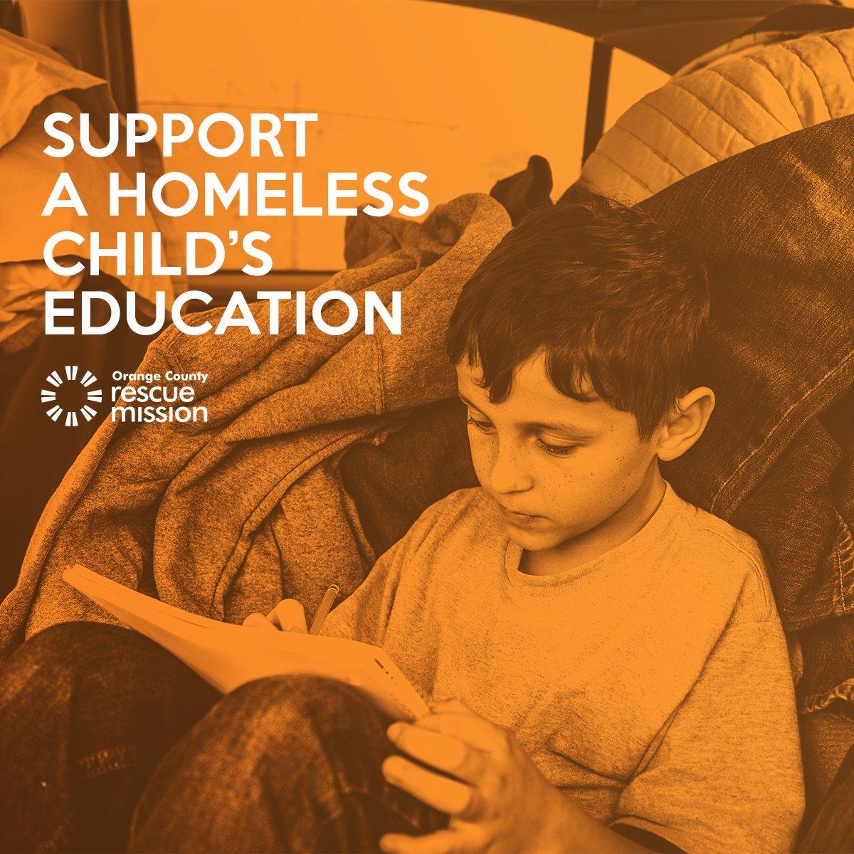 support homeless childrens education