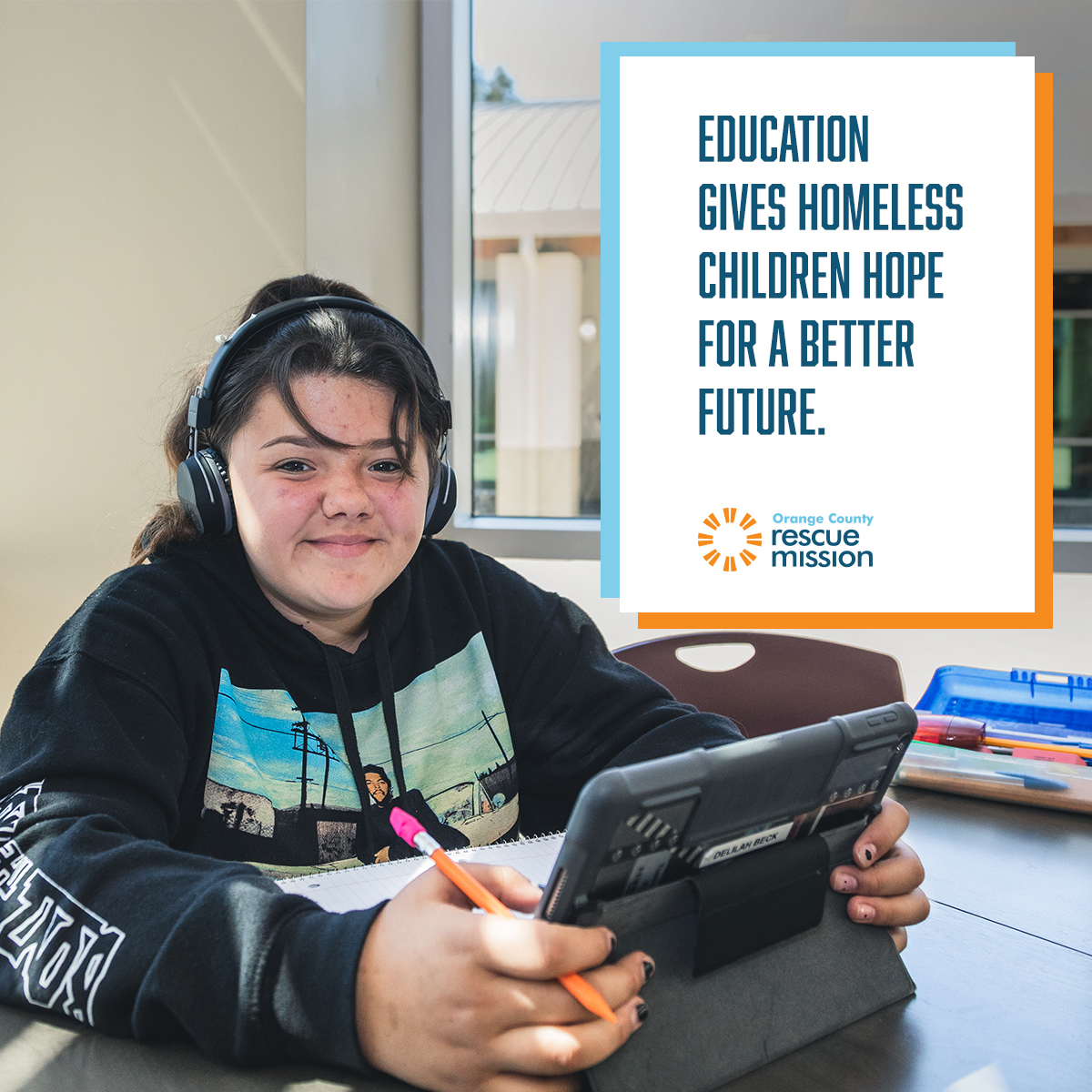 education for homeless children rescue mission