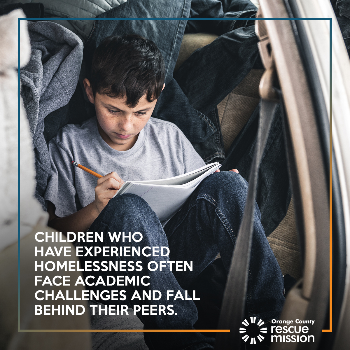 support homeless childs studies rescue mission