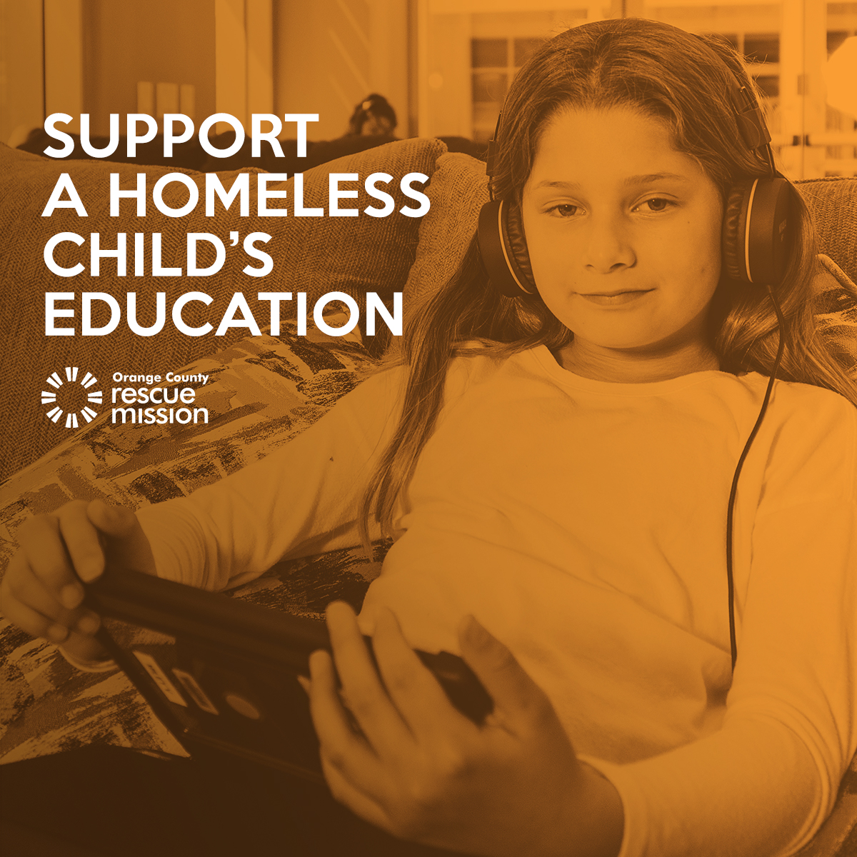 support homeless child education banner rescue mission